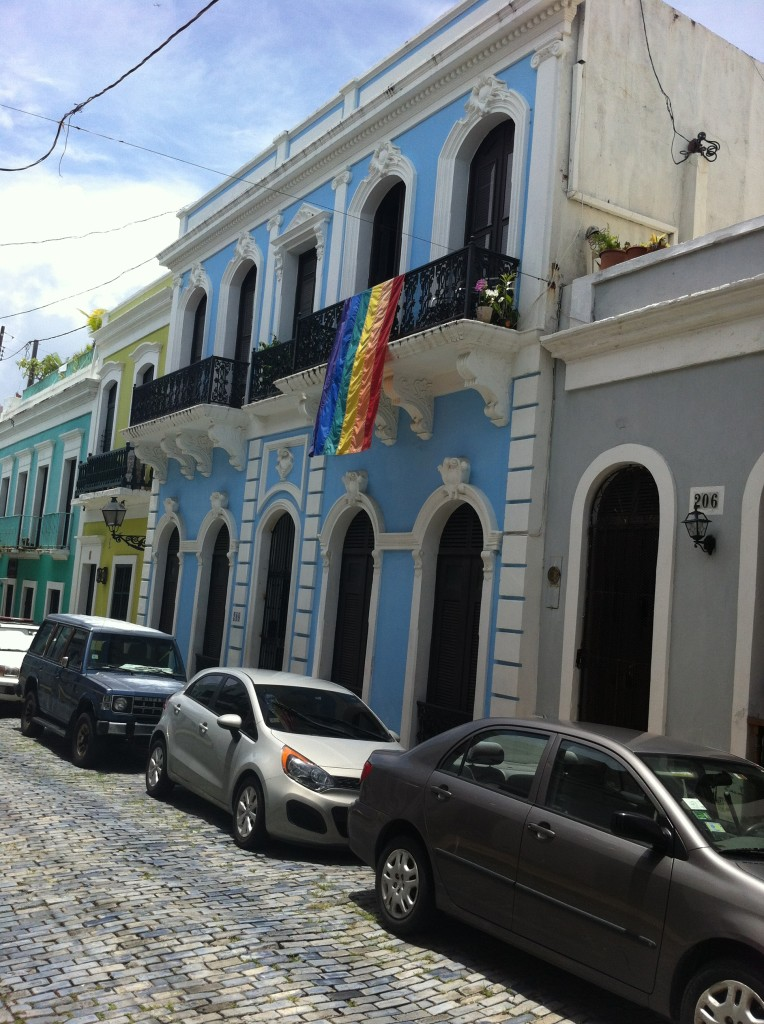 Gay Pride Flag in Old San Juan