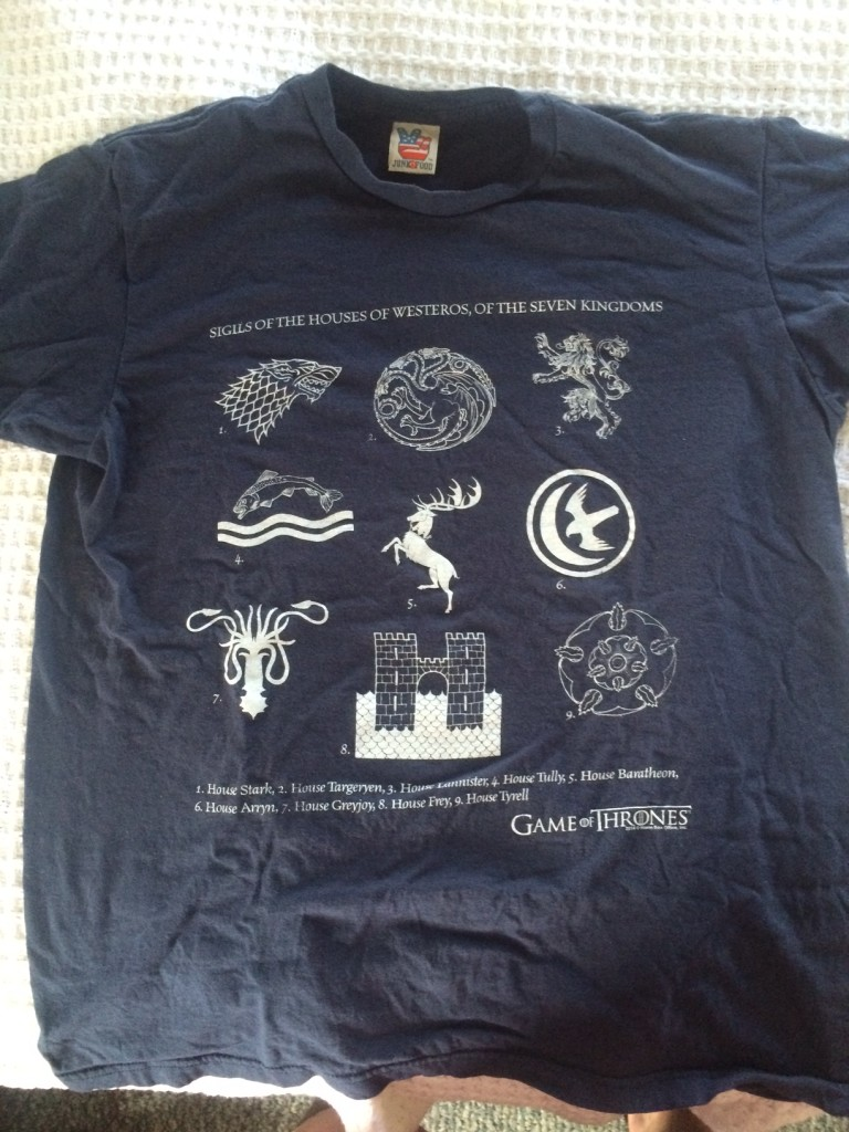 Game of Thrones t-shirt redux