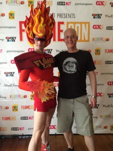 All in all, it was a fantastic day, and I even took a photo with the FLAMECON mascot.