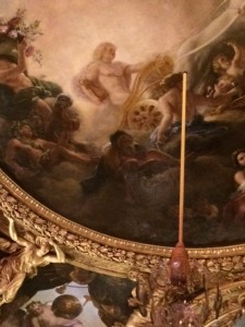 Ceiling fresco at the Apollo Salon