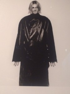 I only took one shot from the exhibit because this really surprised me: Kurt Cobain in vampiric Gaultier menswear.
